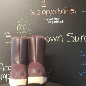 Ugg purple sheepskin boots